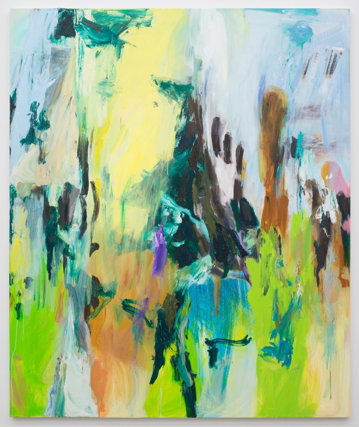 """Wallace Whitney """"Untitled"""" (2016) Oil on canvas 75 x 68 inches"""