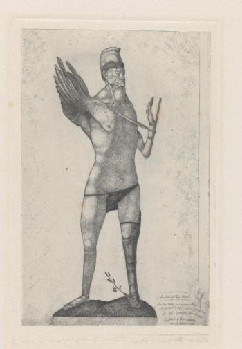 """Paul Klee, """"Der Held mit dem Flügel Le Héros à l'aile"""" (1905), etching (courtesy Zentrum Paul Klee, Bern)"""