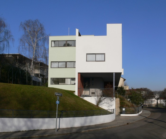 Haus Le Corbusier at the Weissenhof housing estate in Stuttgart, Germany (photo by Andreas Praefcke/Wikimedia)