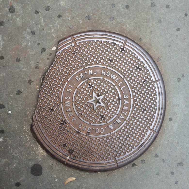 A manhole cover in Park Slope