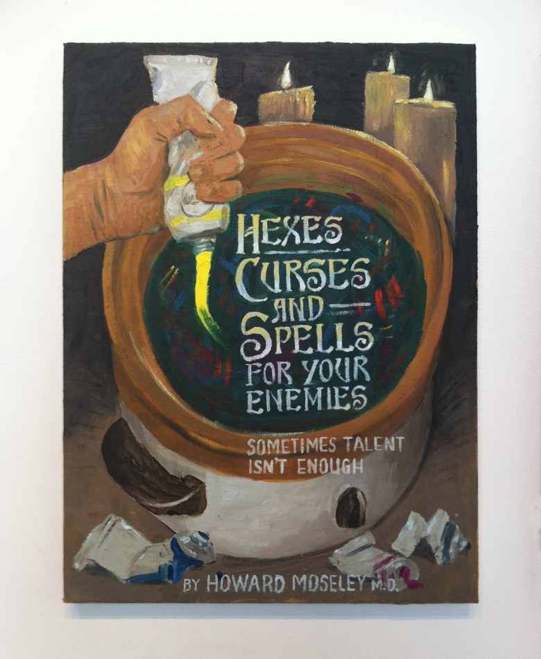 """Paul Gagner, """"Hexes, Curses, and Spells"""" (2016), oil on canvas (click to enlarge)"""
