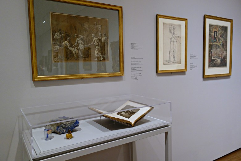 Installation view of 'Artists and Their Tools' at the Harvard Art Museums (photo by the author for Hyperallergic)