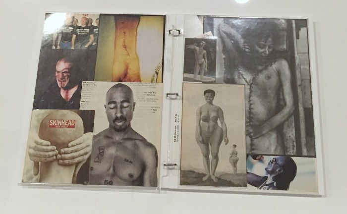 One of Arthur Jafa's scrapbooks.
