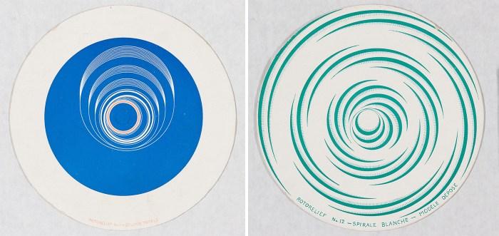 Marcel Duchamp French, 1887–1968 Rotorelief No.11 – Eclipse Totale (recto) / Rotorelief No. 12 – Spirale Blanche – Modèle Déposé (verso), 1935