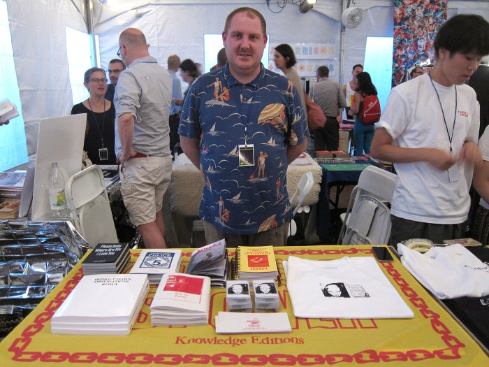 Knowledge Editions's booth in the zine tent