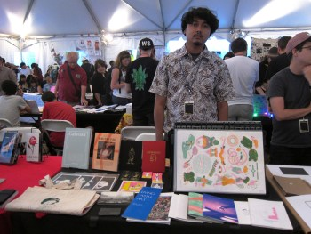 Knuckles & Notch's table in the zine tent