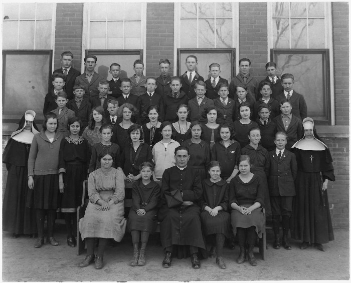 Photograph from the Cheyenne and Arapaho Agency's Catholic School (1920-33) (via Bureau of Indian Affairs. Concho Agency/National Archives and Records Administration)