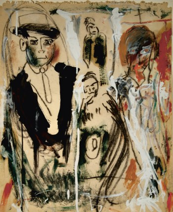 "Jack Kerouac, ""The Slouch Hat"" (ca 1960) (Il Rivellino Gallery, Locarno; © John Sampas, Executor, The Estate of Jack Kerouac; photo © il Rivellino Gallery, Locarno)"