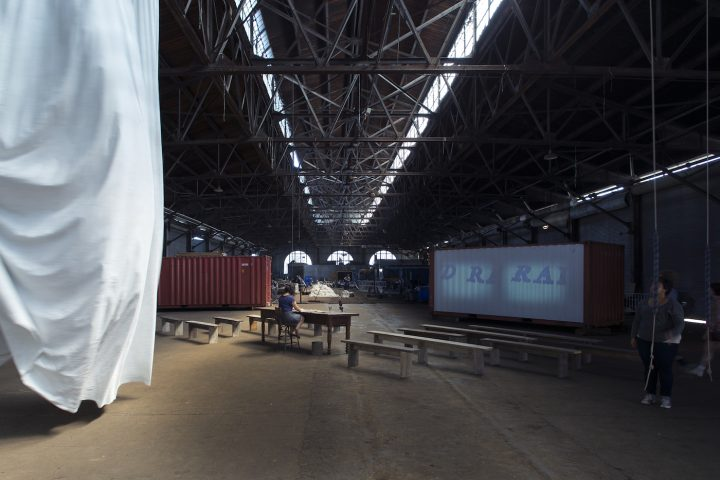 Ann Hamilton, 'habitus' (2016), installation view at Municipal Pier 9 (photo by Thibault Jeanson)