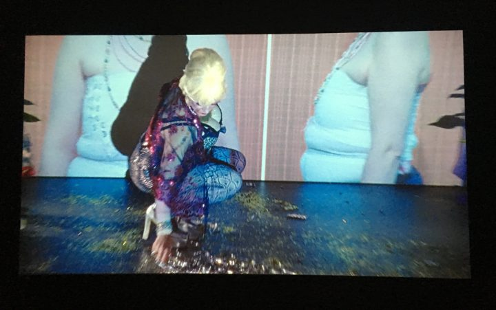 Installation view, Pauline Boudry/Renate Lorenz, Toxic (2012) film, featuring Ginger Brooks Takahashi and Werner Hirsch