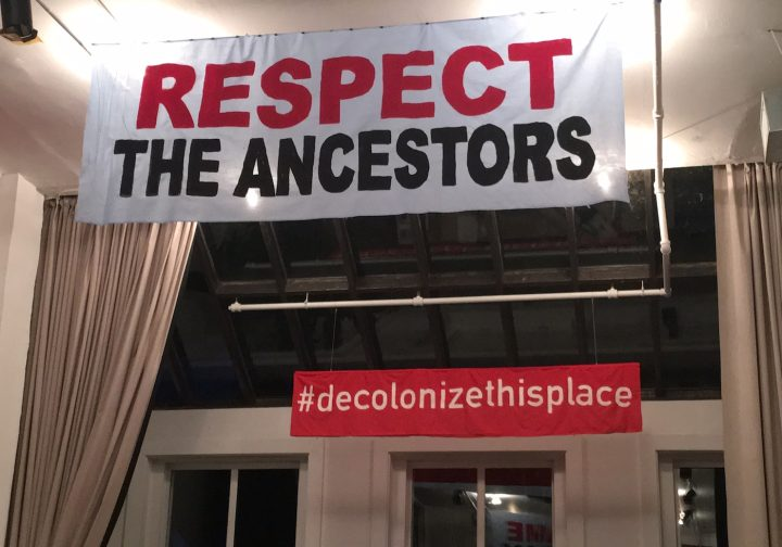 Installation view of Decolonize This Place at Artists Space