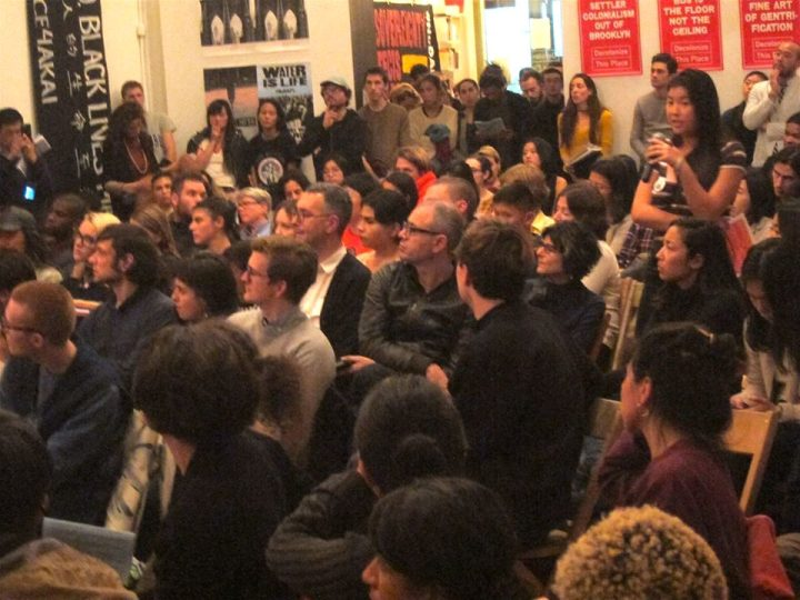 "Attendees of ""Chinatown Is Not For Sale"" panel at Artists Space (photo by and courtesy Chinatown Art Brigade)"