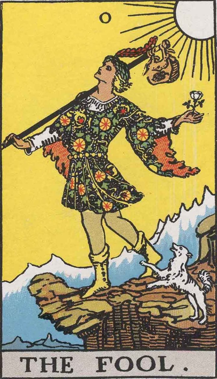 """The fool"" in the Rider-Waite tarot deck (via Wikimedia)"