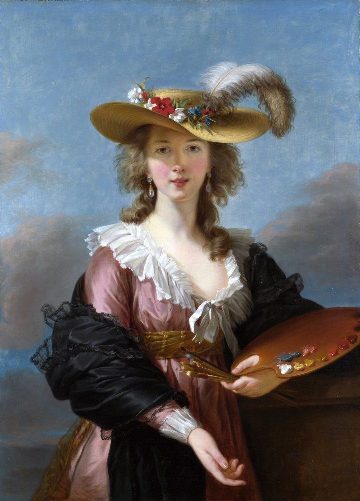 "Louise Élisabeth Vigée Le Brun, ""Self-portrait in a Straw Hat"" (1782), oil on canvas (via National Gallery/Wikimedia)"