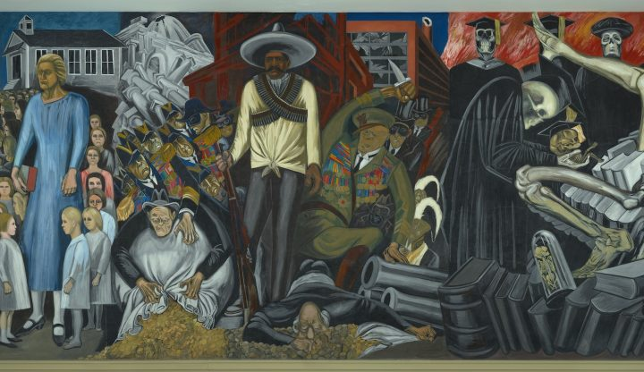 """José Clemente Orozco, """"The Epic of American Civilization"""" (wall mural detail, 1932–34), Hood Museum of Art, Dartmouth College, commissioned by the trustees of Dartmouth College (© Jose Clemente Orozco/Artists Rights Society, ARS, New York/SOMAAP, Mexico City)"""