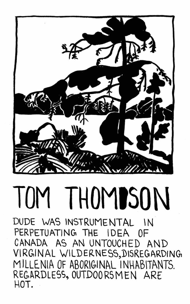 Tom Thomson by Jessica Campbell