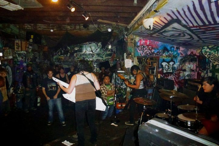 A concert at Burnt Ramen in Richmond, California, in 2012 (photo by Miles Gehm/Flickr)