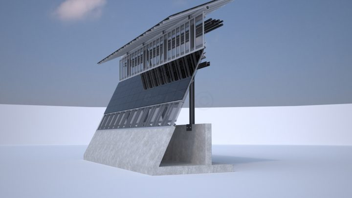 Rendering of one section of the Mexican side of the wall (courtesy Gleason Partners)