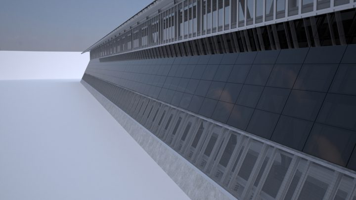 Rendering of the Mexican side of the wall (courtesy Gleason Partners)
