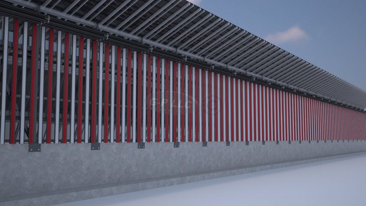 Rendering of the US side of the wall (courtesy Gleason Partners)