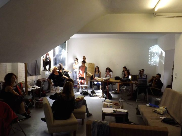 """Learning from Documenta"" workshop in September 2016, ""Art and Anthropology Research Kit,"" at ΤWIXTlab (photo by George Sakkas)"