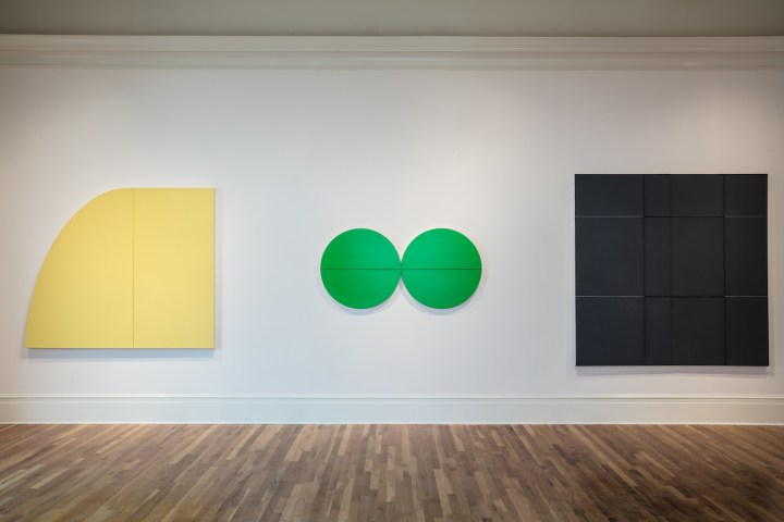 Installation view of Beyond the Canvas: Contemporary Art from Puerto Rico at the Newcomb Art Museum with works by Julio Suárez