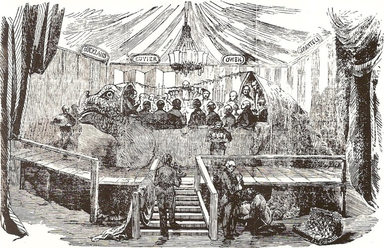 The dinner in the Crystal Palace Iguanodon, pictured in <em srcset=