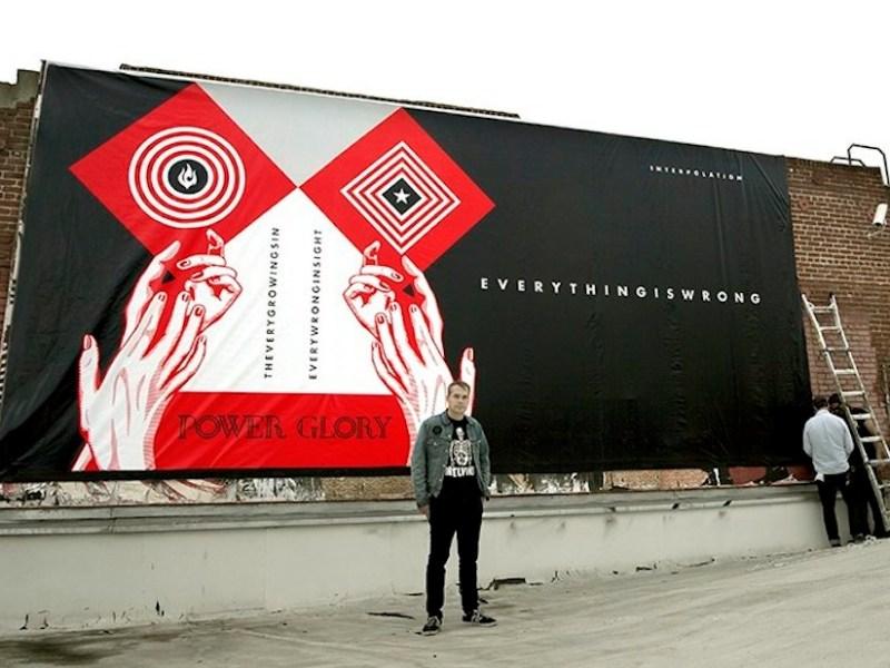 Shepard Fairey billboard in Los Angeles in 2015 (via obeygiant.com)