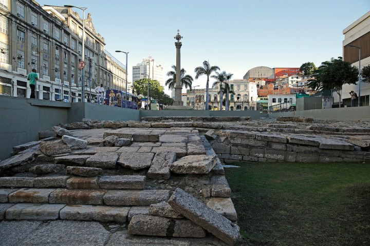 n archaeological site at the Valongo Wharf in Brazil (photo by Agência Brasil Fotografias/Flickr)