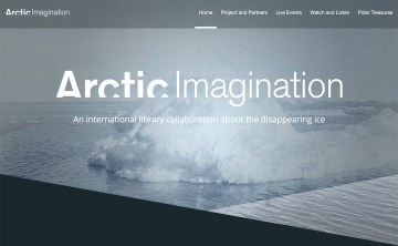 The Arctic Imagination site (screenshot by the author for Hyperallergic)