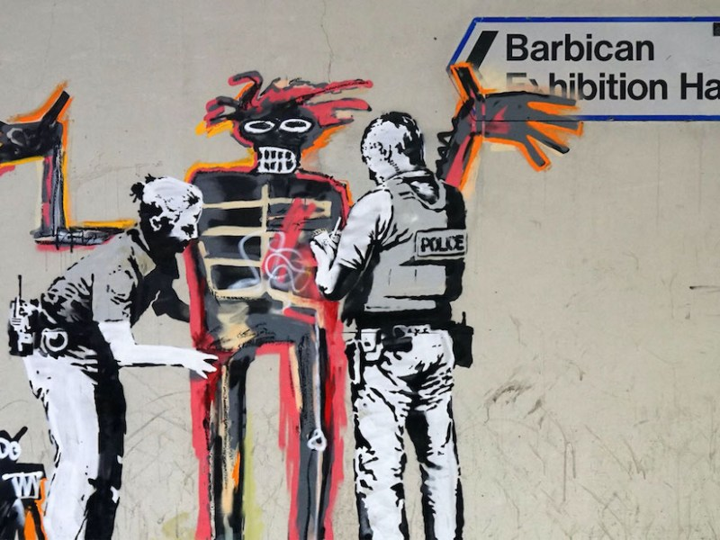 Banksy mural near the Barbican Centre (via banksy.co.uk)