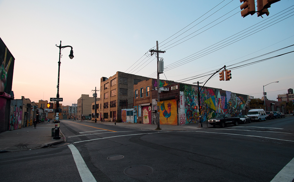 Murals and warehouses in Bushwick (photo by Mr Seb/Flickr)