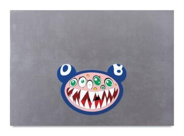 "Takashi Murakami, ""DOB's March"" (1995), acrylic on canvas mounted on board, 27 9/16 x 39 3/8 in, Javier and Monica Mora, Miami (© 1995 Takashi Murakami/Kaikai Kiki Co., Ltd; All Rights Reserved; photo by Norihiro Ueno)"