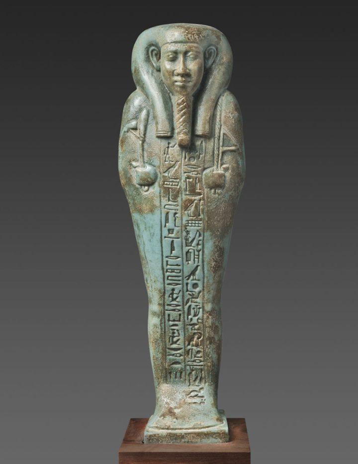 The King's Scribe, Hor-Khebi, Late Period, late Dynasty XXV to early Dynasty XXVI (ca 700–600 BCE), faience (courtesy of Antiquarium Ltd., New York)