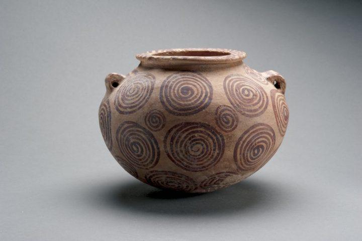 Egyptian Polychrome Terracotta Jar, Nagada II (3400–3100 BCE), polychrome pottery (courtesy of Antiquarium Ltd., New York)