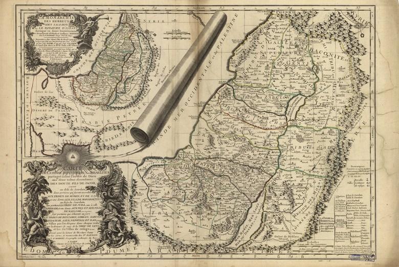"""Robert de Vaugondy, """"Carte de la Terre des Hebreux ou Israelites"""" (1745) (courtesy Harvard Map Collection)"""