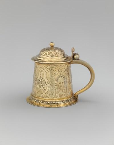 Probably Abraham Riederer, the Elder, (German, Augsburg, 1580-85), gilded silver (courtesy Metropolitan Museum of Art, Rogers Fund, 1911)