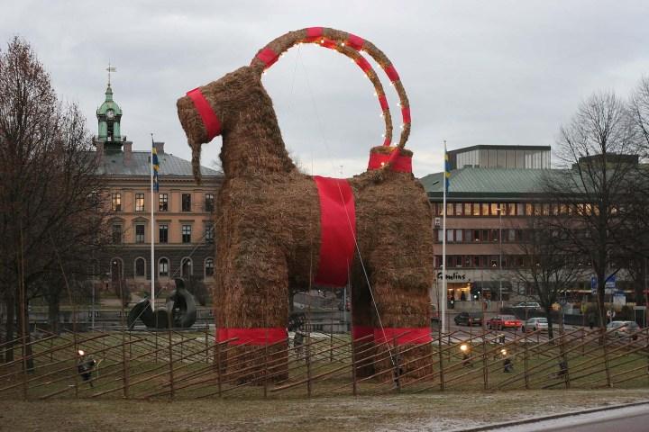The Gävle goat in 2006 (photo by Stefan, via Wikimedia)