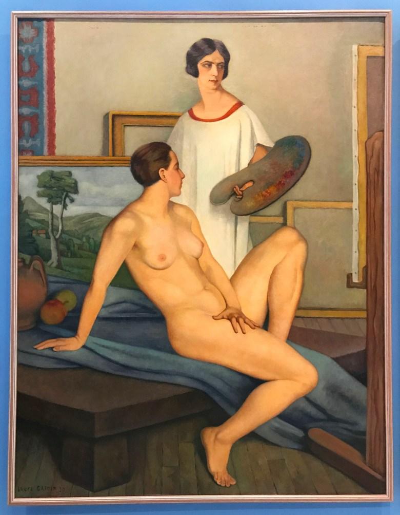 "Laure Garcin, ""L'Atelier"" (""The Studio,"" 1930), Musée Calvet, Avignon, France (photo by the author for Hyperallergic)"