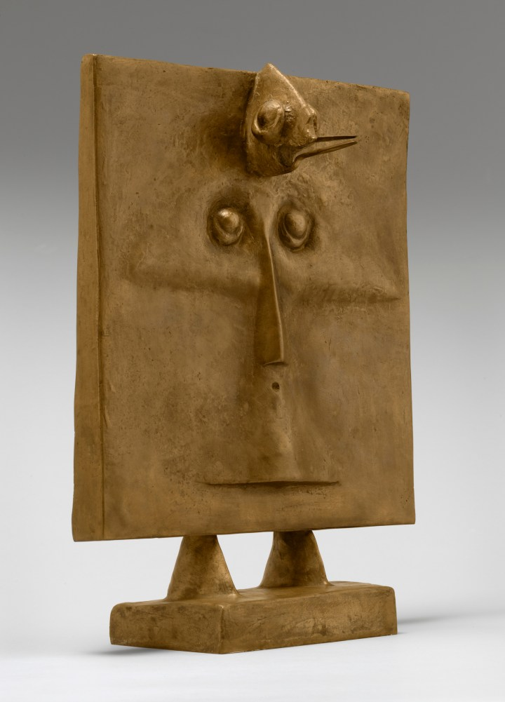 """Max Ernst, """"Bird‑Head"""" (""""Oiseau-tête,"""" 1934–35), bronze, 20 5/8 x 15 x 10 3/8 in, the Museum of Modern Art, New York, acquired through the James Thrall Soby Bequest, 1983 (photo by Thomas Griesel, © 2017 Artists Rights Society/ARS, New York / ADAGP, Paris)"""