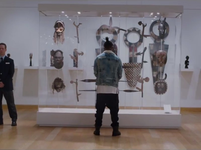 "The ""Museum of Great Britain"" scene from Black Panther (2018) (courtesy Walt Disney Studios Motion Pictures)"