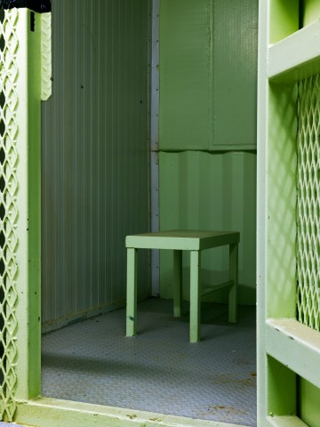 """Edmund Clark, """"Camp 1, isolation unit"""" from the series Guantanamo: If the Light Goes Out (2009) (© Edmund Clark)"""