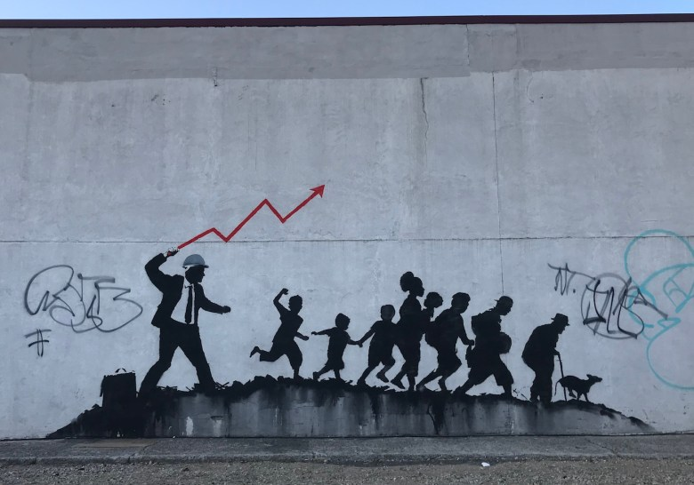 One of the new Banksy murals in Midwood, Brooklyn (all photos by the author unless indicated otherwise)