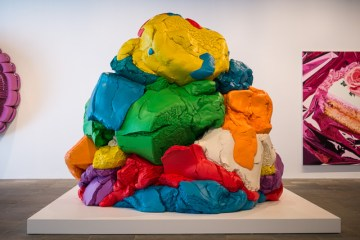 """Jeff Koons, """"Play-Doh"""" (1994–2014) at the Whitney Museum of American Art (photo by Michael Groth/Hyperallergic)"""