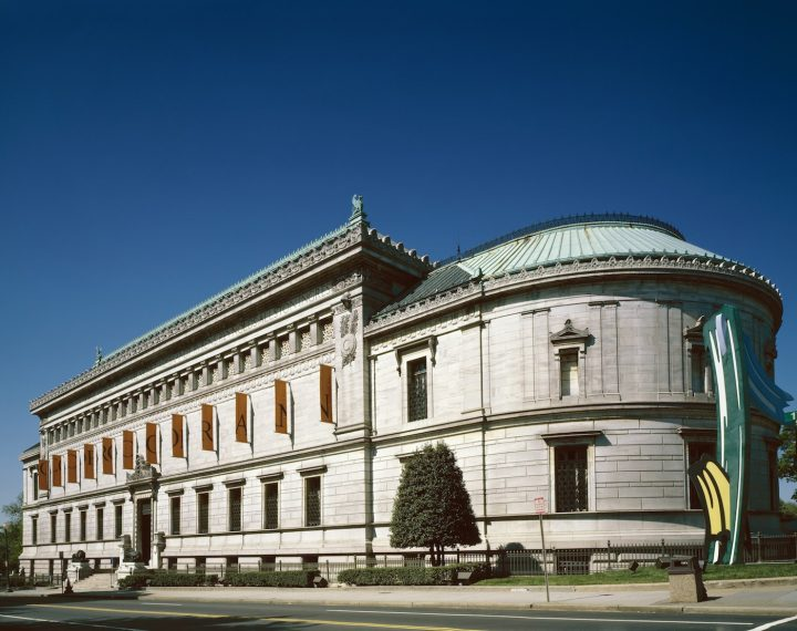 The exterior of the Corcoran Gallery in Washington, DC (photo by Carol M. Highsmith, via Wikimedia Commons)