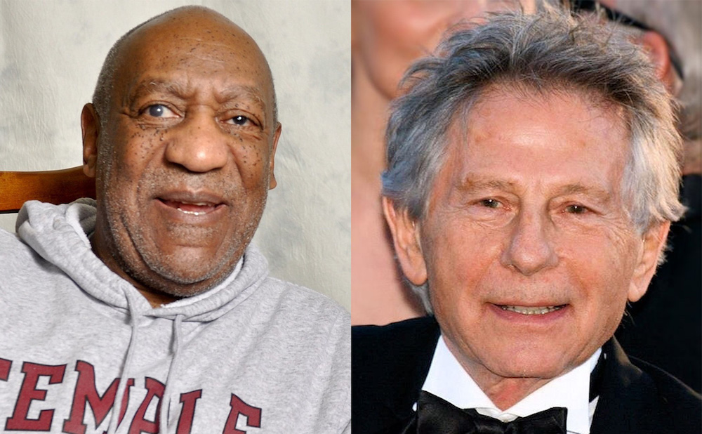 Bill Cosby and Roman Polanski (Cosby photo by The World Affairs Council of Philadelphia; Polanski photo by Georges Biard)