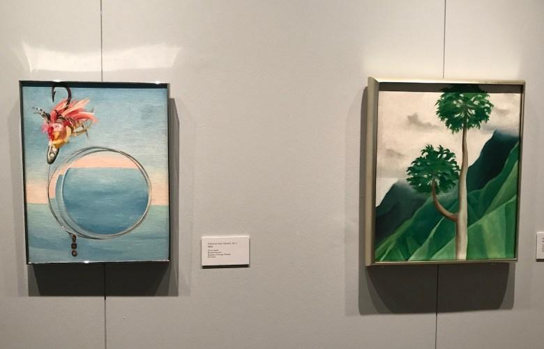 """Georgia O'Keeffe, """"Fishhook from Hawai'i No. 1"""" and """"Papaya Tree"""" (both 1939)"""