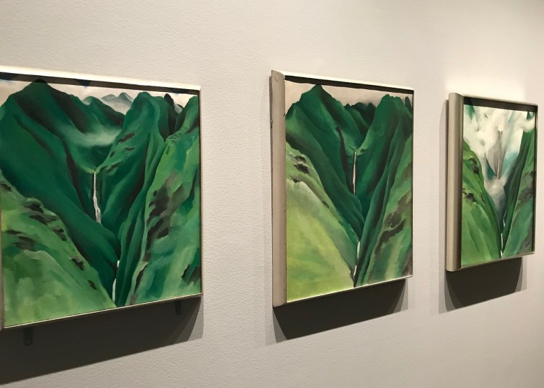 Works from Georgia O'Keeffe's Waterfall series (1939)