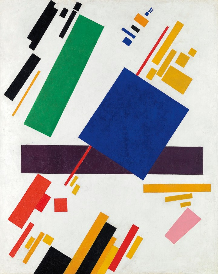 "Kazimir Malevich, ""Suprematist Composition"" (1916) (courtesy Christie's)"