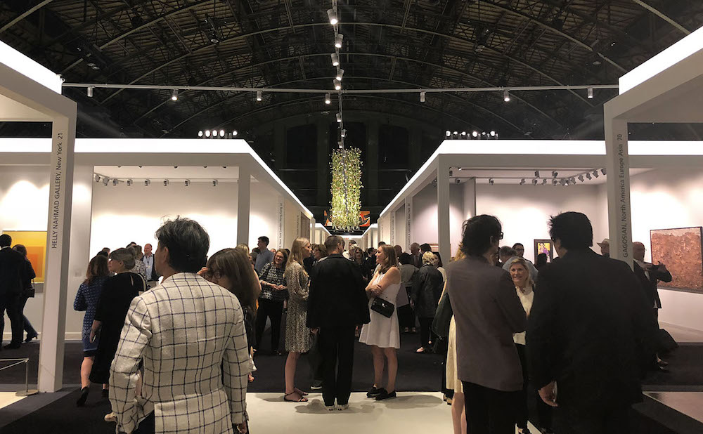 Crowds at the entrance to TEFAF New